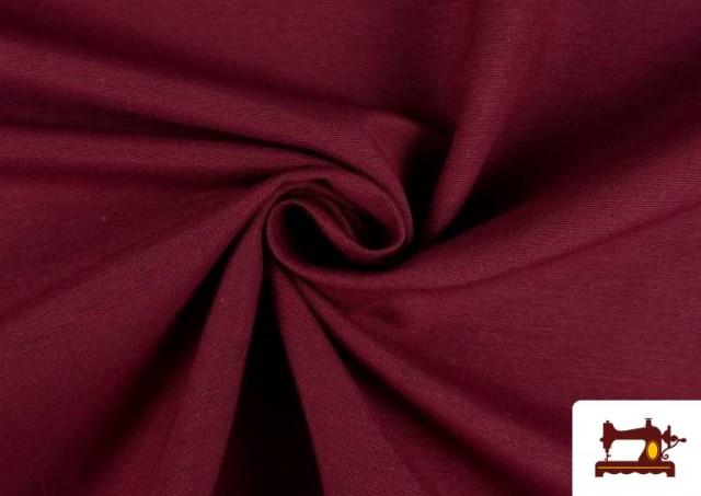 Vente en ligne de Tissu en Canvas de Couleurs couleur Grenat