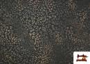 Vente de Tissu Style PuntRoma avec Imprimé Léopard Brillant couleur Brun