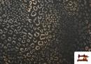 Acheter en ligne Tissu Style PuntRoma avec Imprimé Léopard Brillant couleur Brun