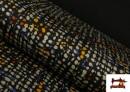 Tissu Style PuntRoma Imprimé avec Coups de Pinceau de Couleurs