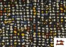 Vente de Tissu Style PuntRoma Imprimé avec Coups de Pinceau de Couleurs