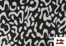 Vente de Tissu Style PuntRoma avec Imprimé Gris