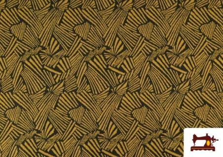 Tissu Style PuntRoma avec Imprimé Étincelles de Couleurs couleur Moutarde