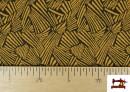 Vente de Tissu Style PuntRoma avec Imprimé Étincelles de Couleurs couleur Moutarde