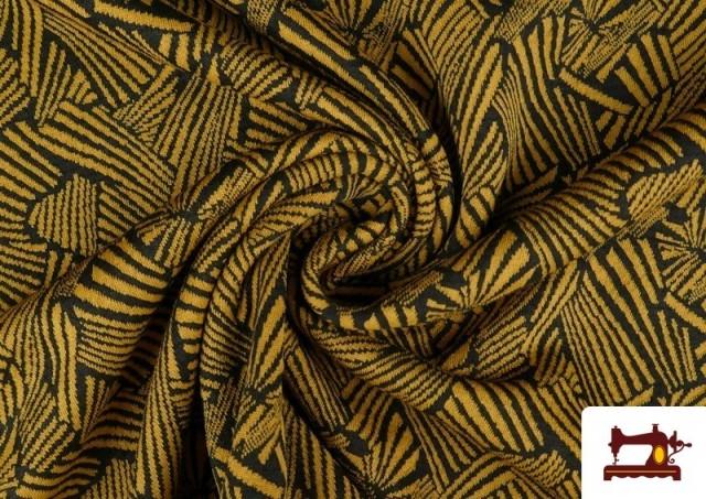 Acheter en ligne Tissu Style PuntRoma avec Imprimé Étincelles de Couleurs couleur Moutarde