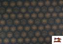 Vente de Tissu Style PuntRoma avec Hexagones de Couleurs couleur Bleu Marine