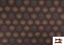 Acheter Tissu Style PuntRoma avec Hexagones de Couleurs couleur Grenat