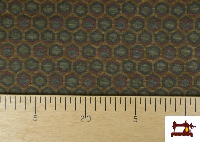 Acheter Tissu Style PuntRoma avec Hexagones de Couleurs couleur Kaki