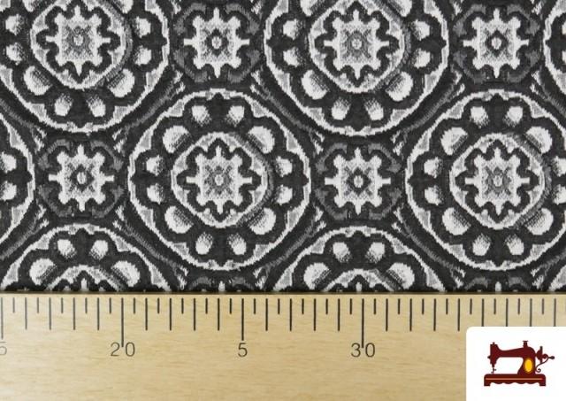 Vente de Tissu Style PuntRoma en Jacquard avec Imprimé Mandala