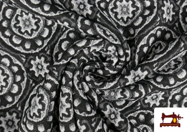 Acheter en ligne Tissu Style PuntRoma en Jacquard avec Imprimé Mandala