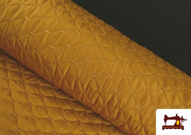 Tissu avec Matelassage Réversible de Couleurs couleur Moutarde