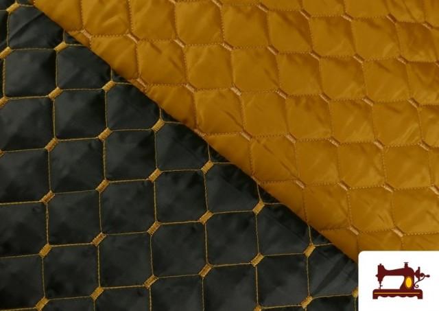 Vente de Tissu avec Matelassage Réversible de Couleurs couleur Moutarde