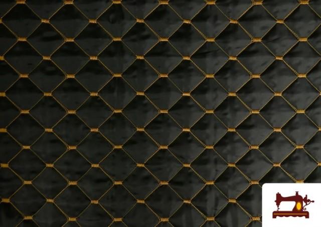 Acheter en ligne Tissu avec Matelassage Réversible de Couleurs couleur Moutarde