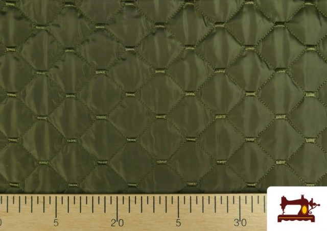 Tissu avec Matelassage Réversible de Couleurs couleur Kaki