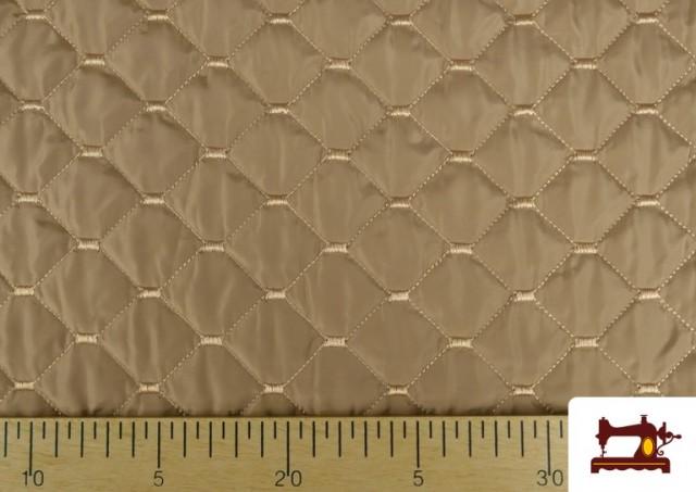 Vente de Tissu avec Matelassage Réversible de Couleurs couleur Beige