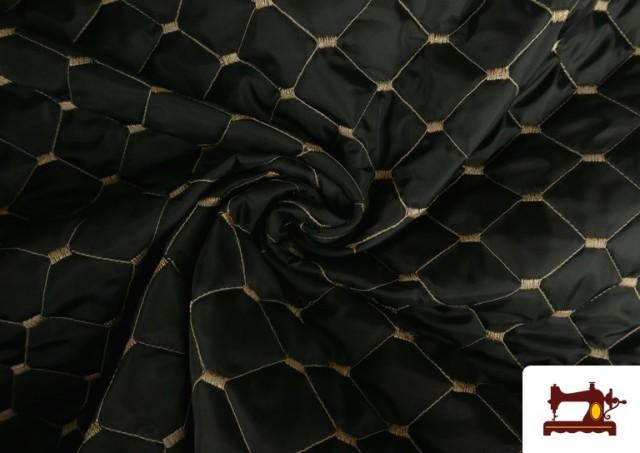 Tissu avec Matelassage Réversible de Couleurs couleur Beige