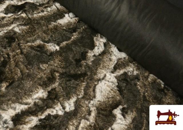 Tissu à Poil Doux pour Écharpes et Vêtements couleur Brun