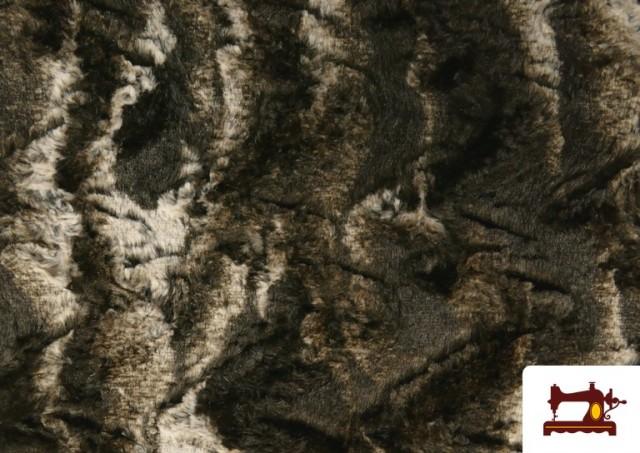 Acheter Tissu à Poil Doux pour Écharpes et Vêtements couleur Brun