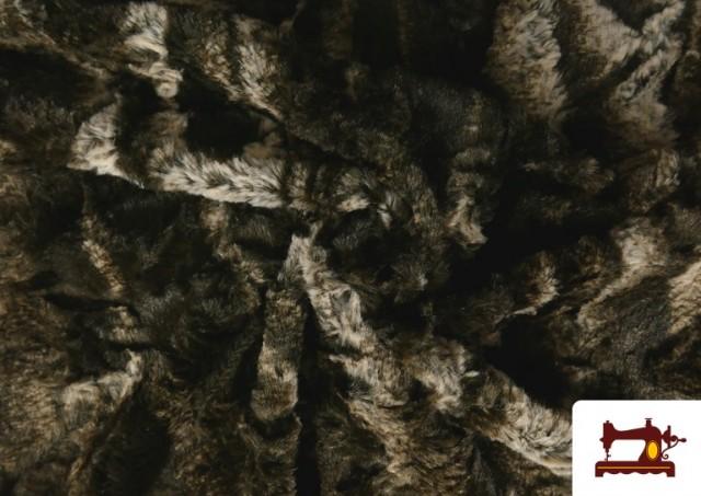 Vente de Tissu à Poil Doux pour Écharpes et Vêtements couleur Brun