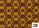 Acheter en ligne Tissu en Viscose avec Imprimé Africain