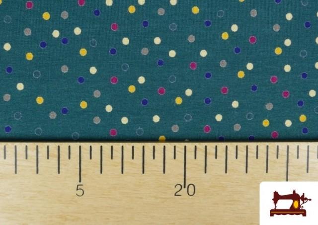 Tissu en Viscose avec Imprimé à Pois de Couleurs