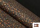 Tissu en Viscose avec Imprimé Léopard Sauvage couleur Brun