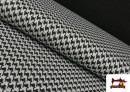 Tissu en Viscose avec Imprimé Pied-de-Poule