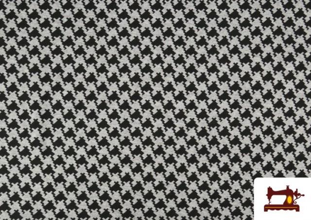 Acheter Tissu en Viscose avec Imprimé Pied-de-Poule
