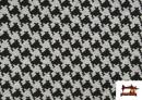Vente de Tissu en Viscose avec Imprimé Pied-de-Poule