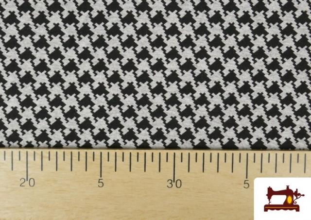 Vente en ligne de Tissu en Viscose avec Imprimé Pied-de-Poule