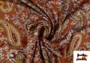 Acheter Tissu en Viscose avec Imprimé Cachemire Grand couleur Tuile