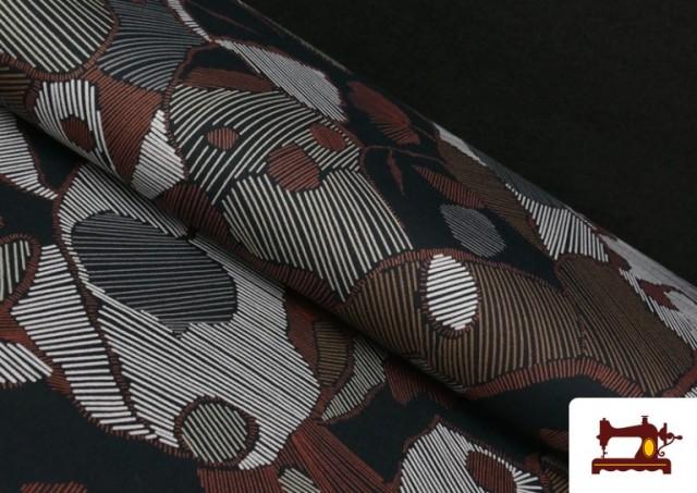 Tissu en Viscose avec Imprimé Abstract Figures