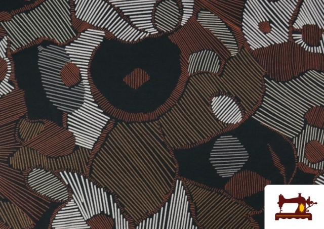 Acheter Tissu en Viscose avec Imprimé Abstract Figures
