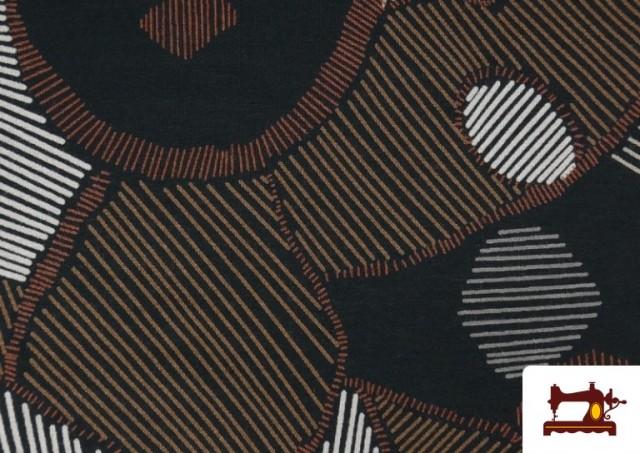 Vente de Tissu en Viscose avec Imprimé Abstract Figures
