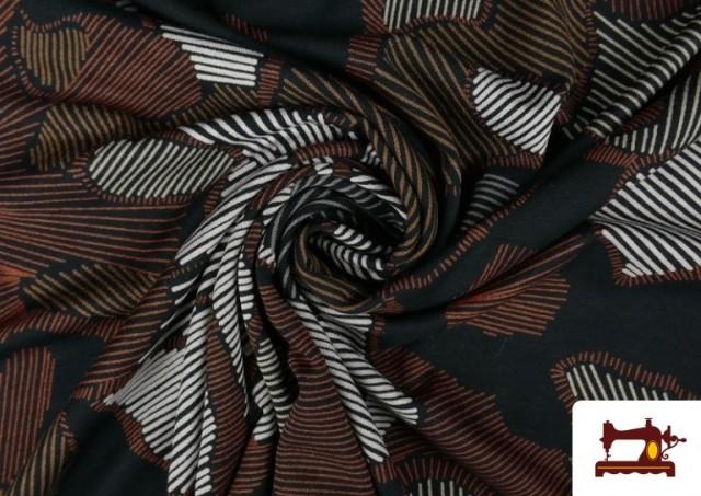 Acheter en ligne Tissu en Viscose avec Imprimé Abstract Figures