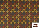 Acheter Tissu en Viscose avec Imprimé Géométrique Moutarde