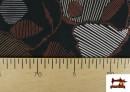 Vente en ligne de Tissu en Viscose avec Imprimé Abstract Figures