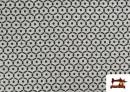 Tissu en Viscose avec Imprimé Mini Géométrique