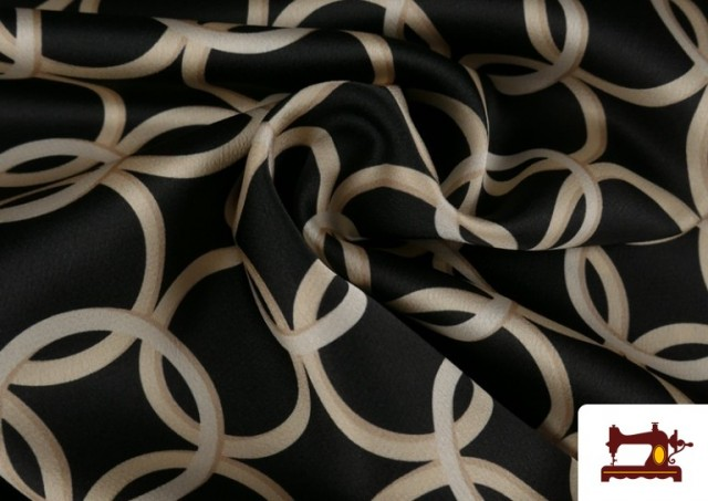 Vente en ligne de Tissu en Crêpe Satiné Imprimé Bagues