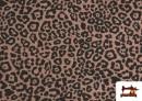 Vente de Tissu de Tee-Shirt avec Imprimé Léopard Rose