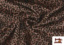Acheter en ligne Tissu de Tee-Shirt avec Imprimé Léopard Rose