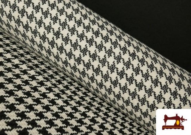 Tissu en Laine 100% avec Imprimé Pied-de-Poule