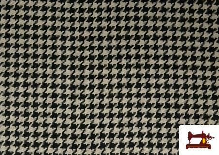 Acheter Tissu en Laine 100% avec Imprimé Pied-de-Poule