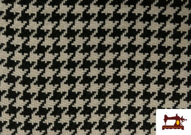 Vente de Tissu en Laine 100% avec Imprimé Pied-de-Poule