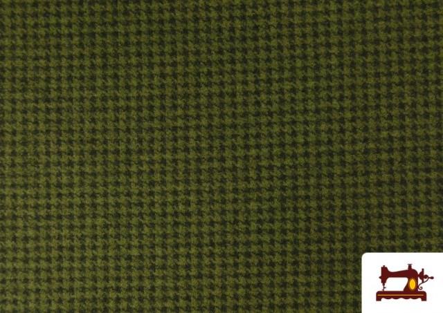 Tissu Style PuntRoma avec Imprimé Pied-de-Poule