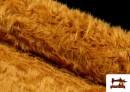 Tissu à Poil Long Cuivré Moutarde - Costume de Lion