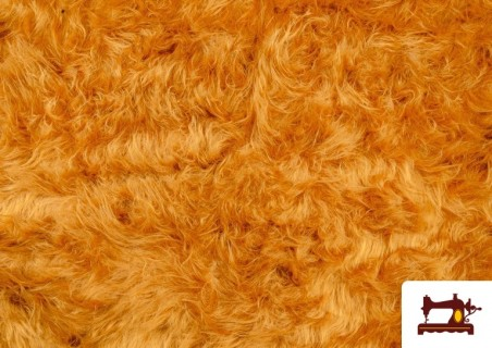 Acheter Tissu à Poil Long Cuivré Moutarde - Costume de Lion