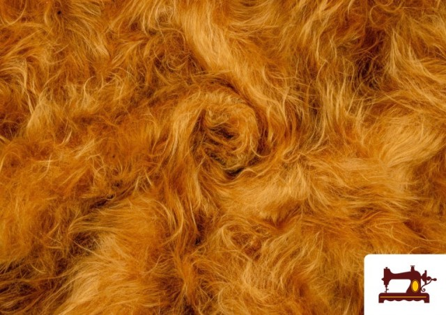 Vente de Tissu à Poil Long Cuivré Moutarde - Costume de Lion