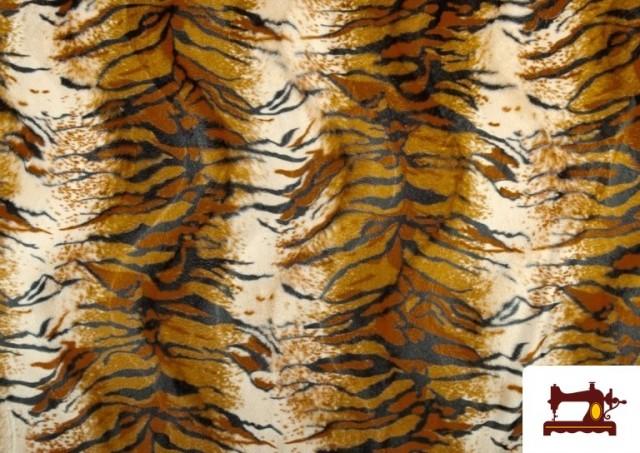 Vente de Tissu à Poil Cour Imprimé Tigre