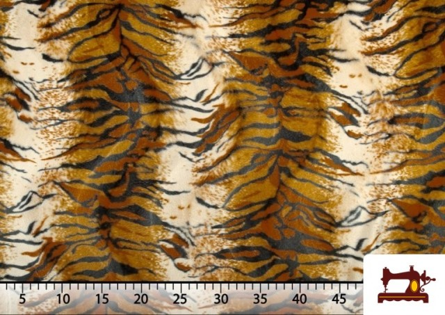 Acheter en ligne Tissu à Poil Cour Imprimé Tigre